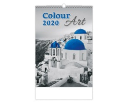 Nástěnný kalendář Colour Art 2020