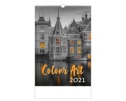 Nástěnný kalendář Colour Art 2021