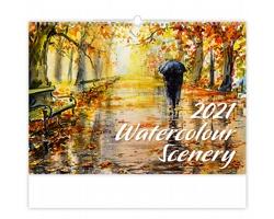 Nástěnný kalendář Watercolour Scenery 2021