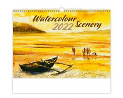 Nástěnný kalendář Watercolour Scenery 2022