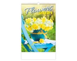 Nástěnný kalendář Flowers 2021