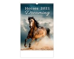 Nástěnný kalendář Horses Dreaming 2021