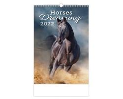 Nástěnný kalendář Horses Dreaming 2022