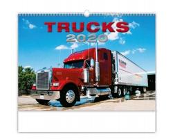 Nástěnný kalendář Trucks 2020