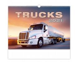 Nástěnný kalendář Trucks 2021
