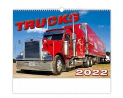 Nástěnný kalendář Trucks 2022