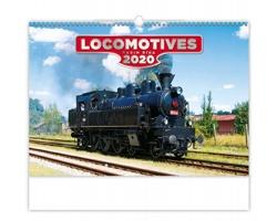 Nástěnný kalendář Locomotives 2020