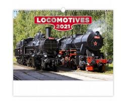 Nástěnný kalendář Locomotives 2021