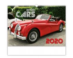 Nástěnný kalendář Retro Cars 2020