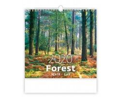 Nástěnný kalendář Forest / Wald / Les 2020