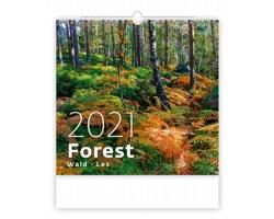 Nástěnný kalendář Forest/Wald/Les 2021