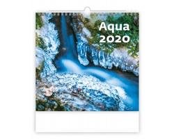 Nástěnný kalendář Aqua 2020