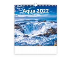 Nástěnný kalendář Aqua 2022