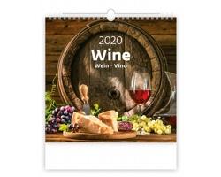 Nástěnný kalendář Wine 2020