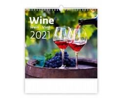 Nástěnný kalendář Wine 2021