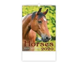 Nástěnný kalendář Horses / Pferde / Koně / Kone 2020