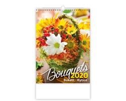 Nástěnný kalendář Bouquets / Bukett / Kytice 2020