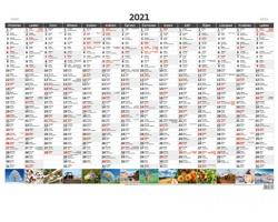 Roční nástěnný plánovací kalendář A1 2021 - s obrázky