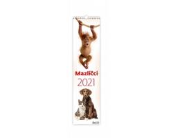 Nástěnný kalendář Mazlíčci 2021 - vázanka