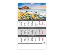 Tříměsíční nástěnný kalendář Pobřeží/Pobrežie 2022