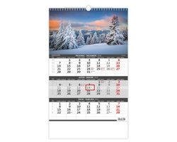 Tříměsíční nástěnný kalendář 2021 - hory