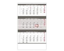 Tříměsíční nástěnný kalendář 2020 - šedý