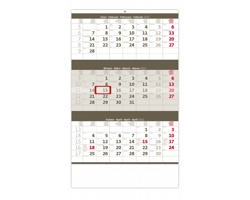 Tříměsíční nástěnný kalendář 2022 - šedý