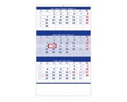 Tříměsíční nástěnný kalendář 2022 - modrý