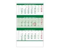 Tříměsíční nástěnný kalendář 2020 - zelený