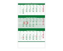 Tříměsíční nástěnný kalendář 2022 - zelený