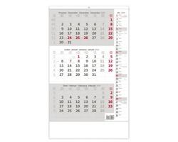 Tříměsíční nástěnný kalendář s poznámkami 2020 - šedý