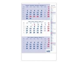 Tříměsíční nástěnný kalendář s poznámkami 2020 - modrý