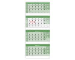 Čtyřměsíční nástěnný kalendář GREEN 2022