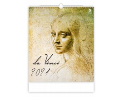 Nástěnný kalendář Leonardo da Vinci 2021