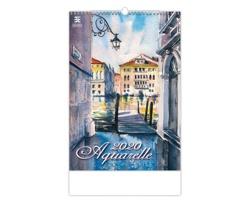 Nástěnný kalendář Aquarelle 2020
