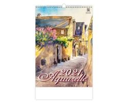 Nástěnný kalendář Aquarelle 2021