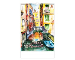 Nástěnný kalendář Aquarelle 2022