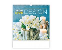 Nástěnný kalendář Live Design 2020