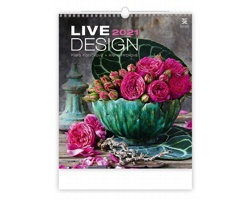 Nástěnný kalendář Live Design 2021