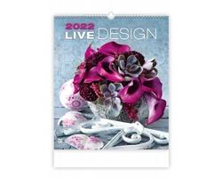 Nástěnný kalendář Live Design 2022