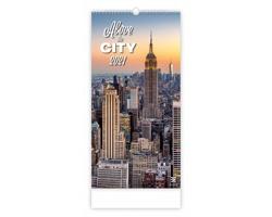 Nástěnný kalendář Above the City 2021