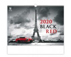 Nástěnný kalendář Black Red 2020