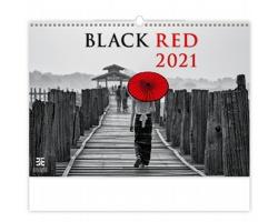 Nástěnný kalendář Black Red 2021