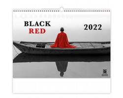 Nástěnný kalendář Black Red 2022