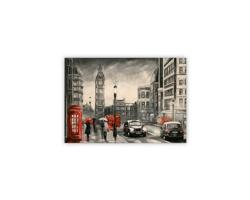 Luxusní dřevěný nástěnný obraz London