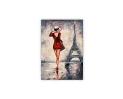 Luxusní dřevěný nástěnný obraz Paris