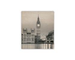 Luxusní dřevěný nástěnný obraz Big Ben