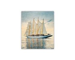 Luxusní dřevěný nástěnný obraz Sailing