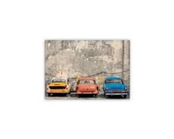 Luxusní dřevěný nástěnný obraz Cars