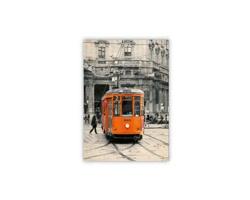 Luxusní dřevěný nástěnný obraz Tram